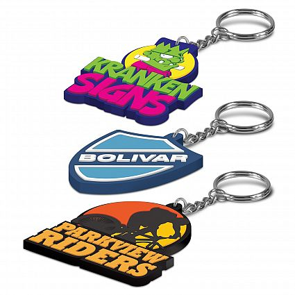 PVC Custom Shape Key Rings