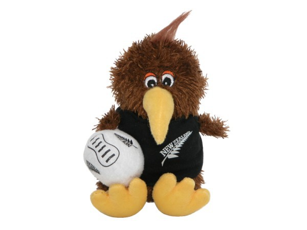 Kiwi with Rugby Ball