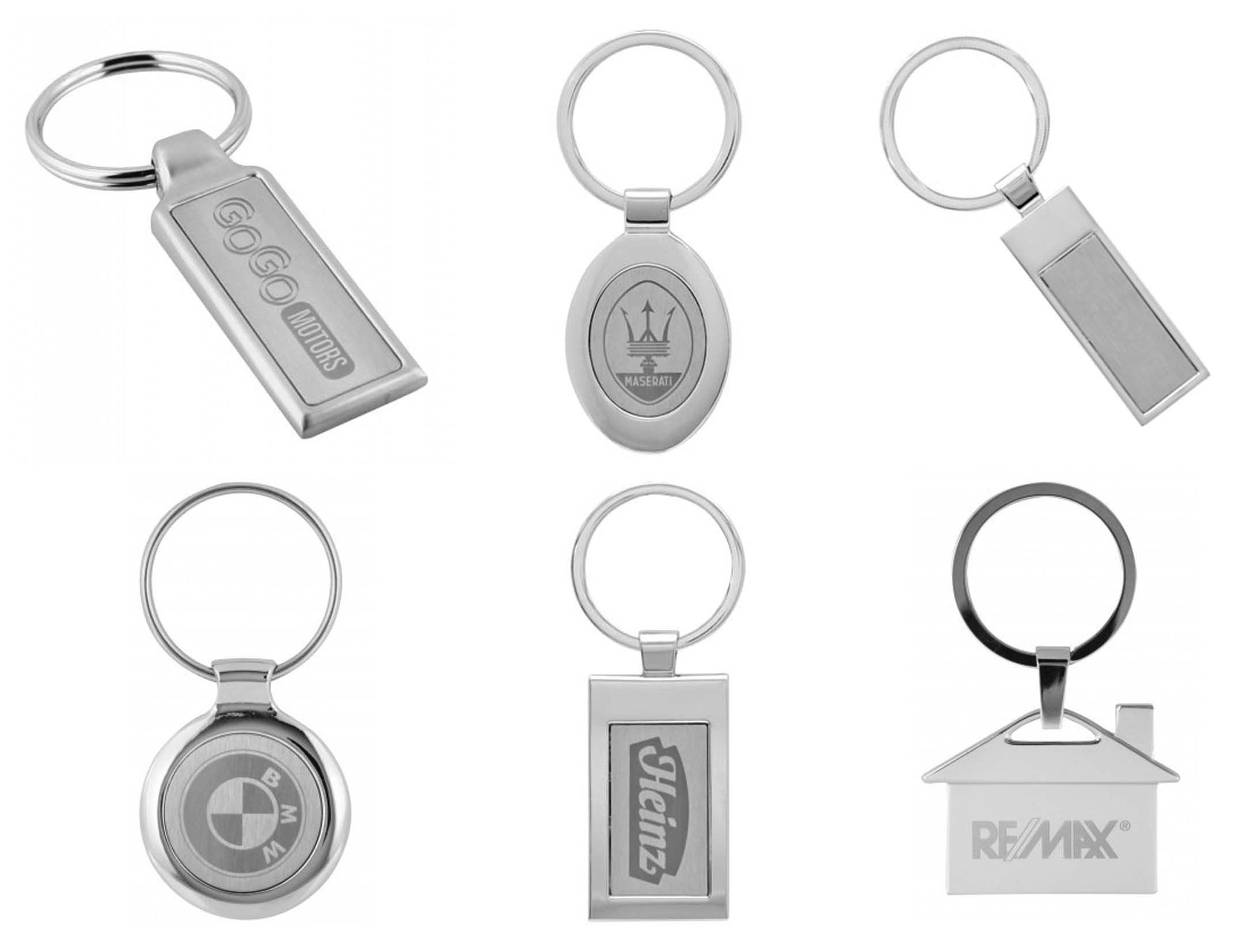 Chrome Plated Key Rings
