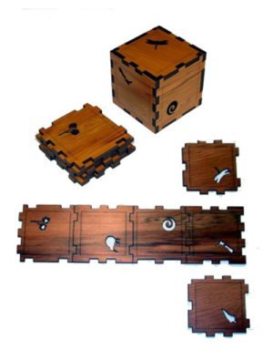 Cube Puzzle Coasters