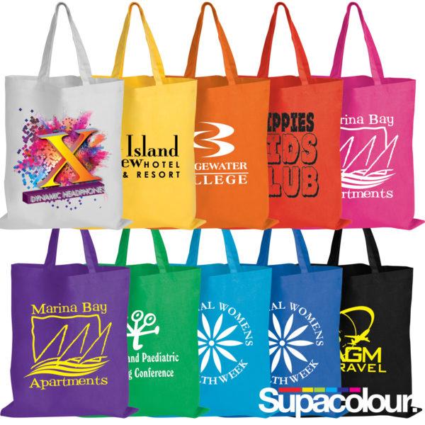 Coloured Cotton Tote Bags