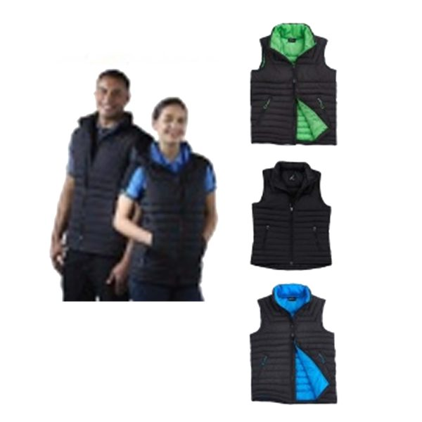 Contrast Puffer Vest