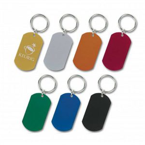 Metal Tag Key Ring
