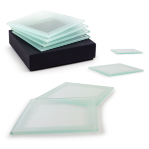 Frosted Glass Coaster Sets