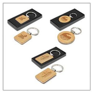 Beech Wood Keyrings