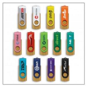 Swivel Bamboo USB Flash Drive