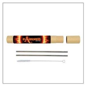 Evergreen Stainless Steel Straw Set